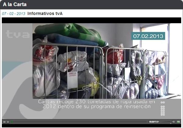 captura de pantalla vídeo arropa Televisión Alcoy zzz