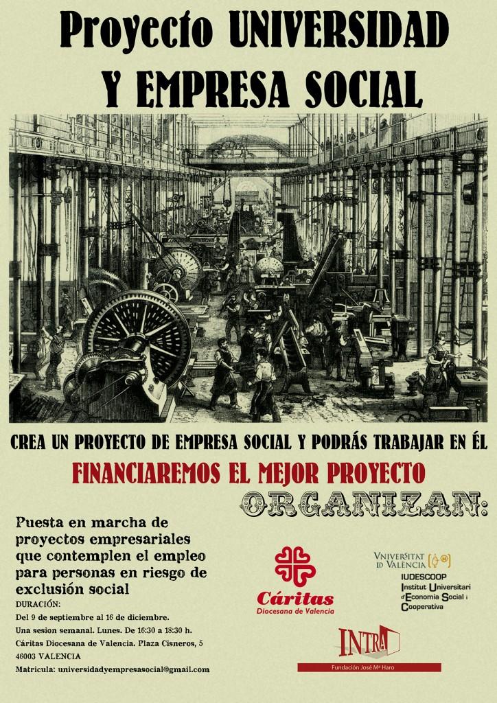 Cartel I Proyecto Universidad y Empresa Social
